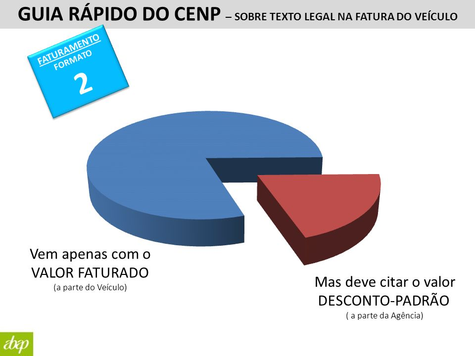 2 GUIA RÁPIDO DO CENP – SOBRE TEXTO LEGAL NA FATURA DO VEÍCULO