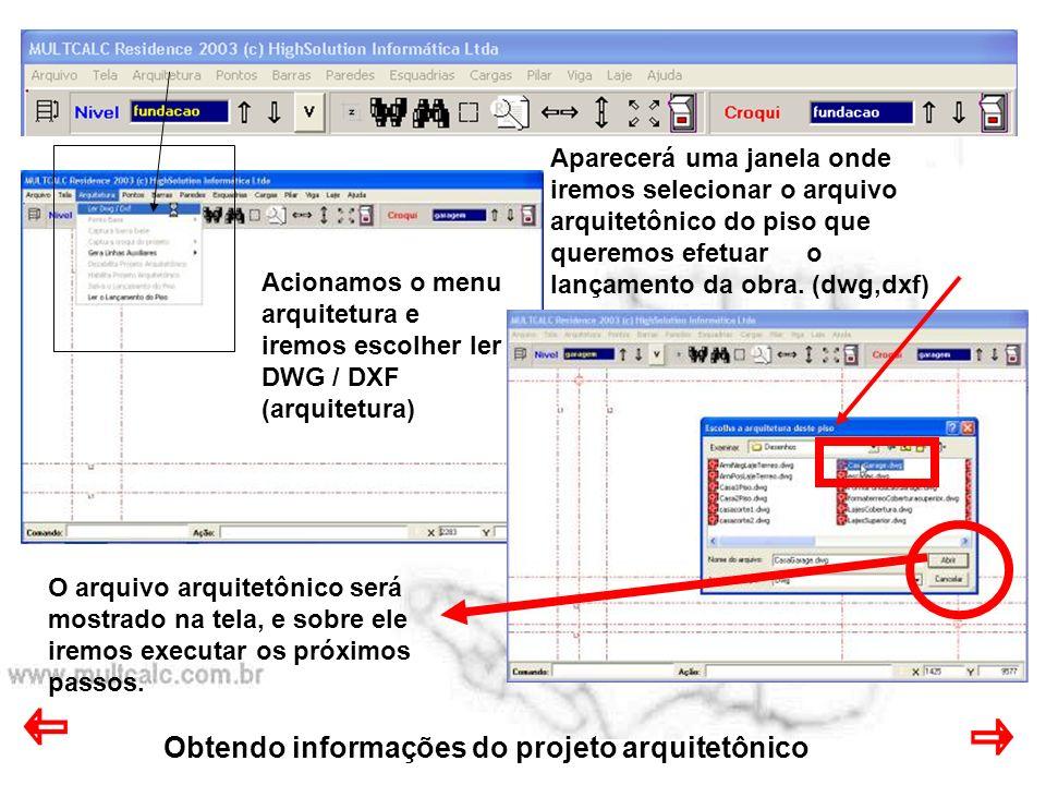 Obtendo informações do projeto arquitetônico