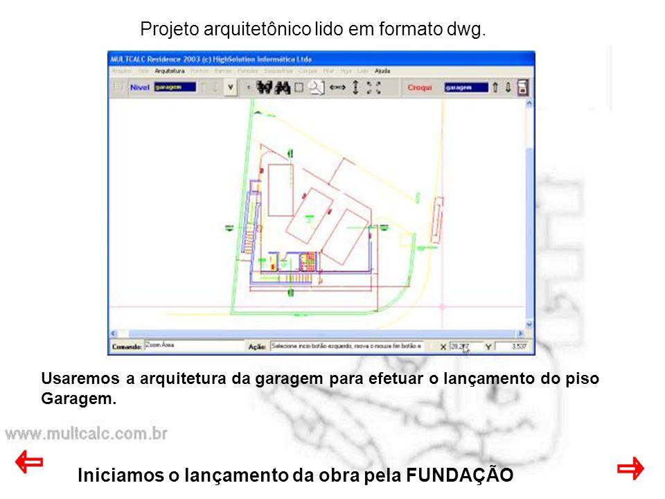 Projeto arquitetônico lido em formato dwg.