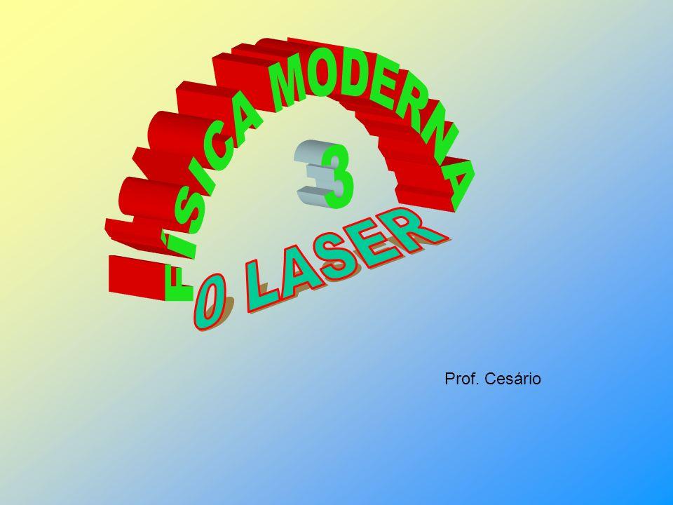 FÍSICA MODERNA 3 0 LASER Prof. Cesário