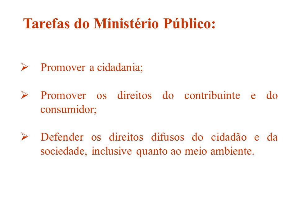 Tarefas do Ministério Público: