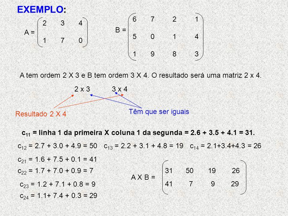 EXEMPLO: B = 6 7 2 1. 5 0 1 4. 1 9 8 3.