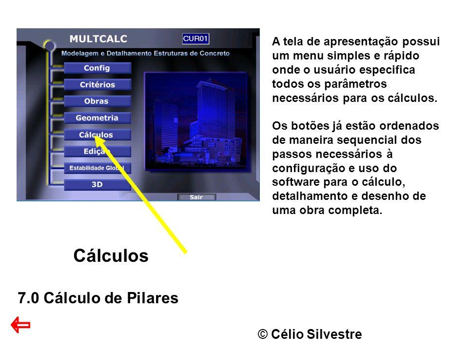 Cálculos 7.0 Cálculo de Pilares © Célio Silvestre