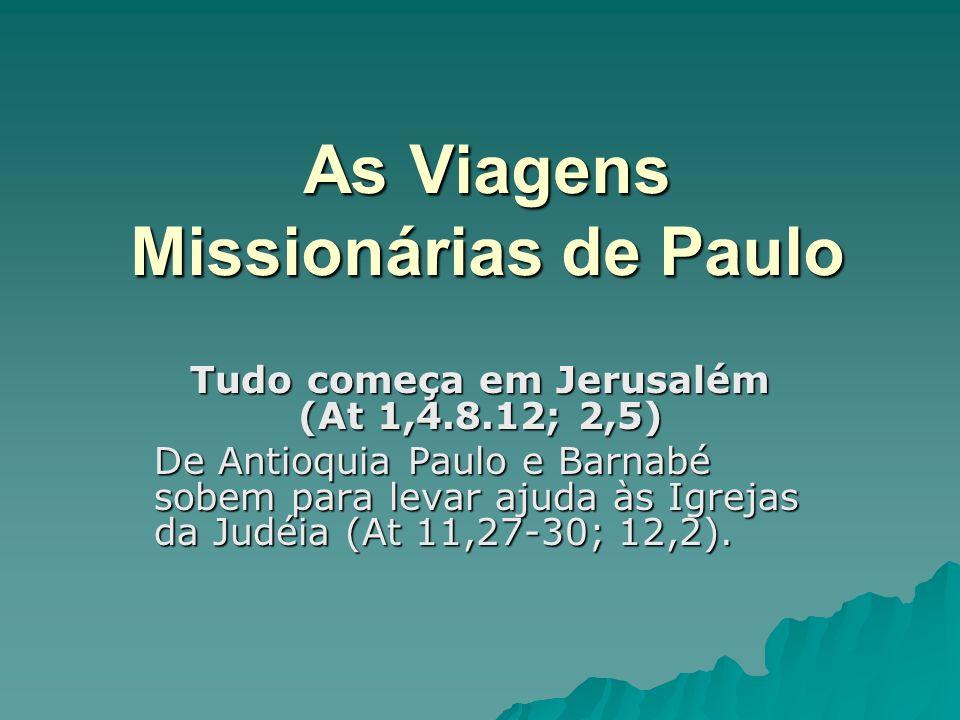 As Viagens Missionárias de Paulo