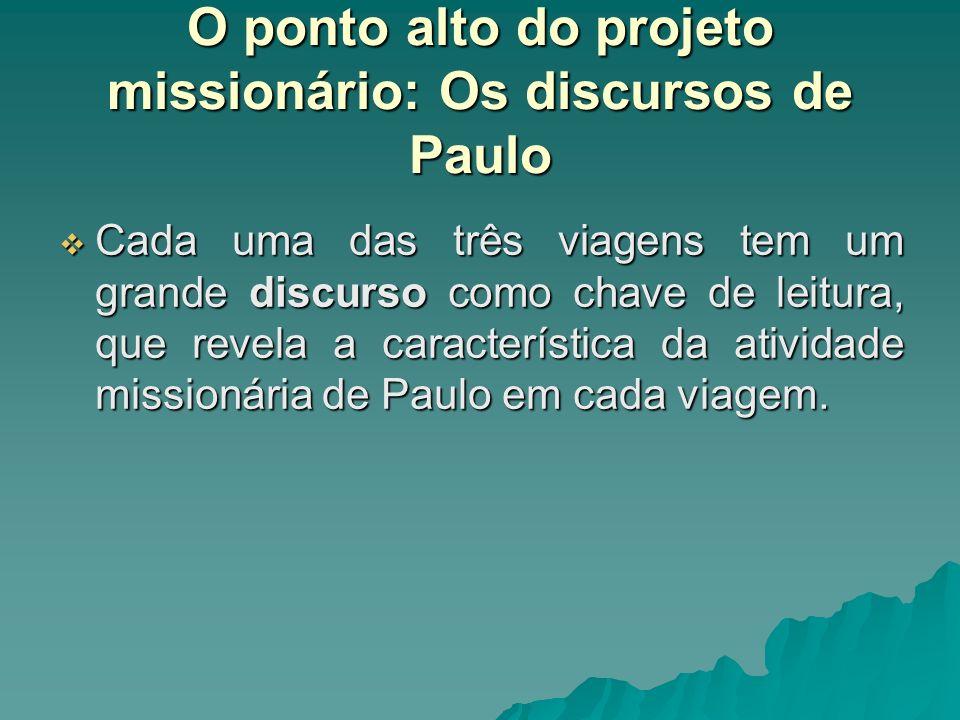 O ponto alto do projeto missionário: Os discursos de Paulo