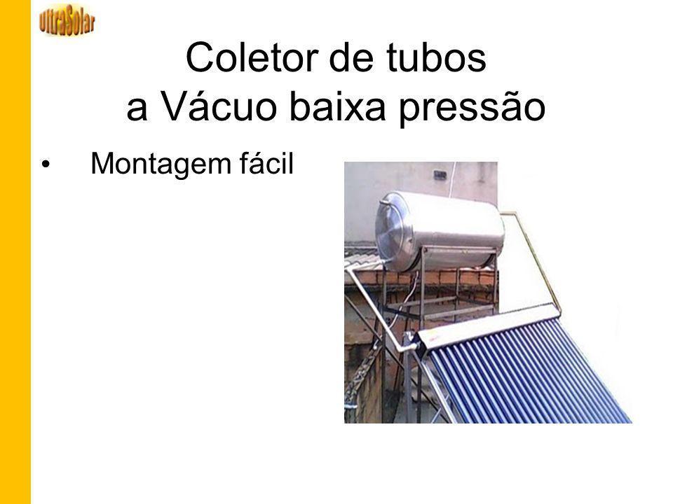 Coletor de tubos a Vácuo baixa pressão