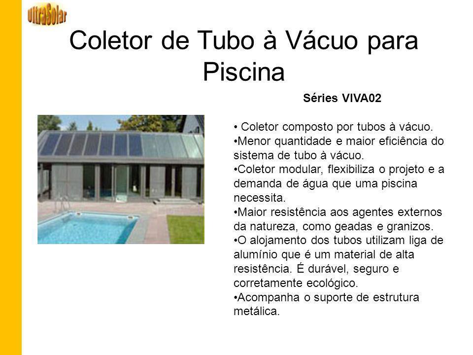 Coletor de Tubo à Vácuo para Piscina