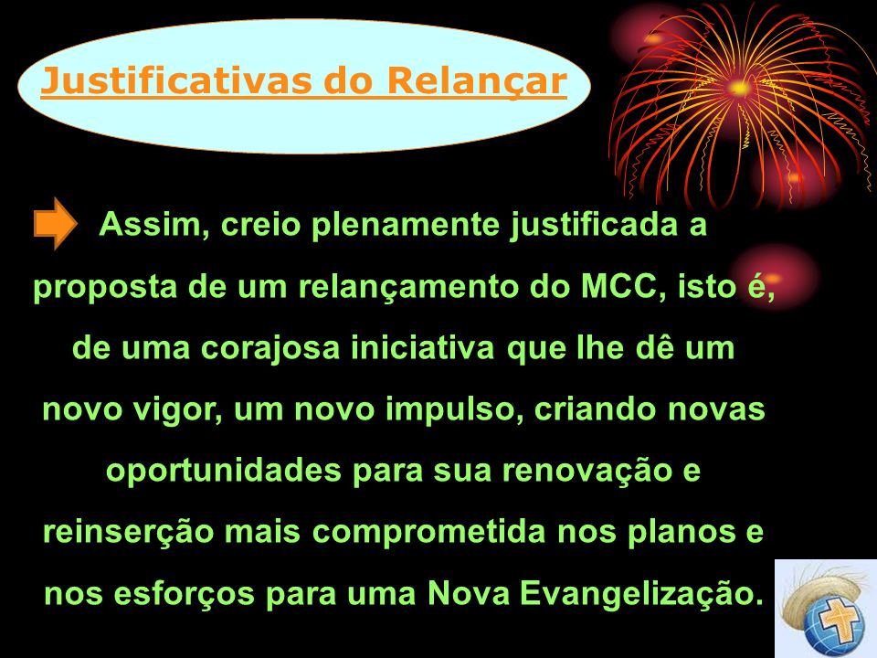 Justificativas do Relançar