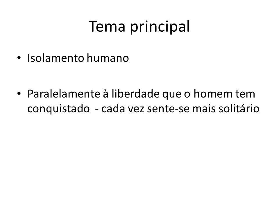 Tema principal Isolamento humano