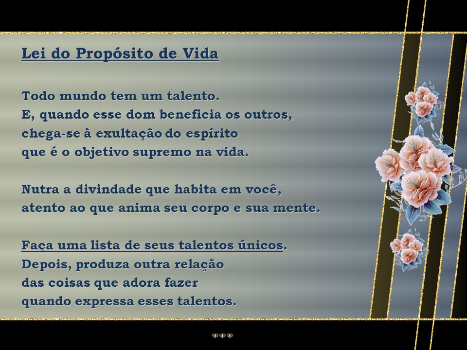 Lei do Propósito de Vida