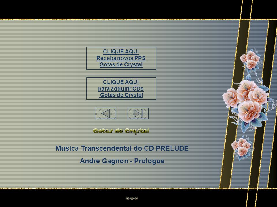 Musica Transcendental do CD PRELUDE Andre Gagnon - Prologue