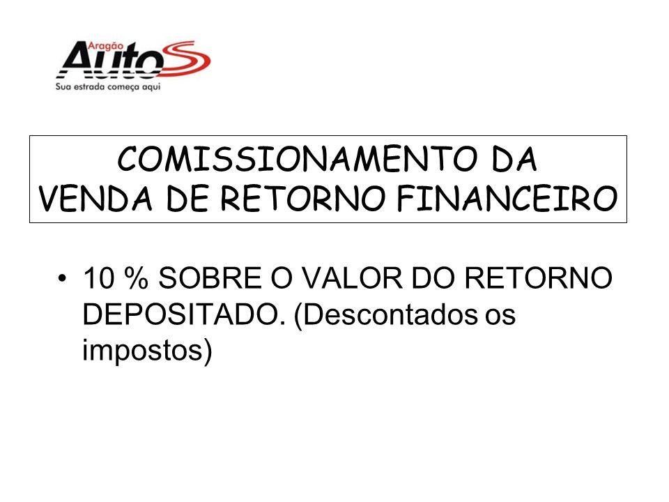 COMISSIONAMENTO DA VENDA DE RETORNO FINANCEIRO