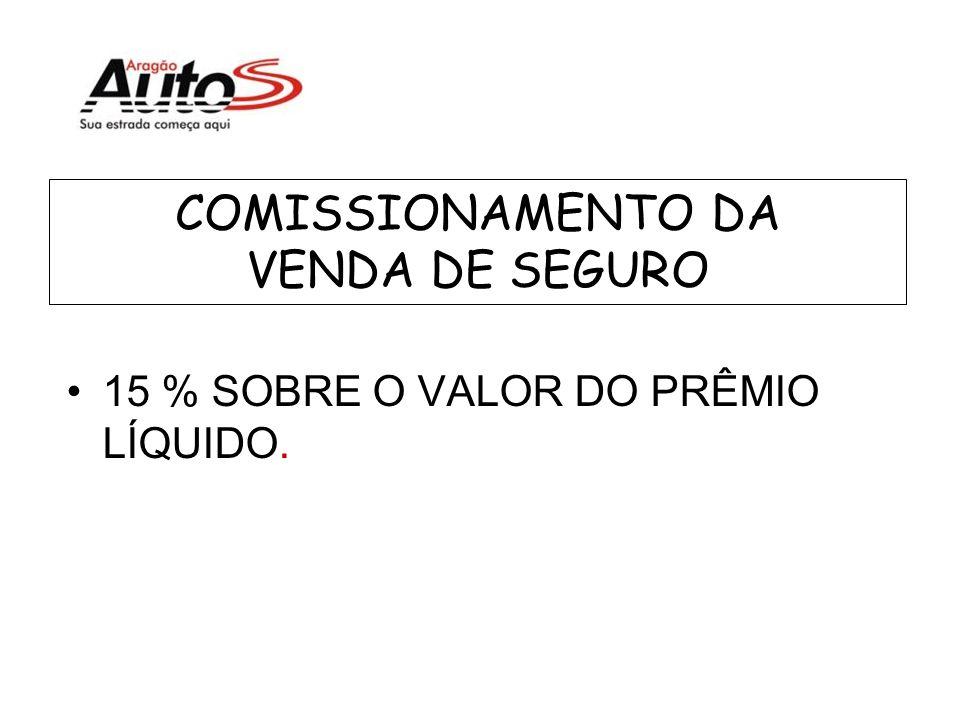 COMISSIONAMENTO DA VENDA DE SEGURO