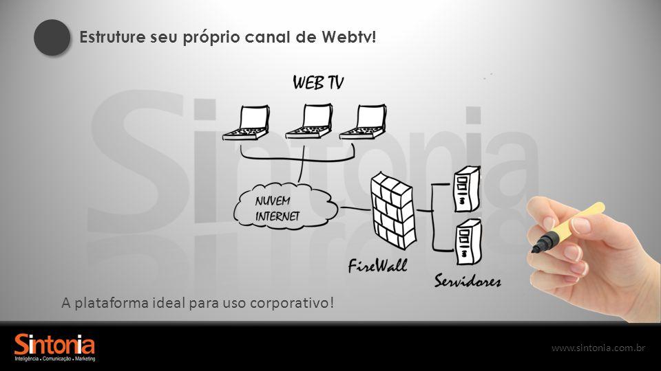 Estruture seu próprio canal de Webtv!