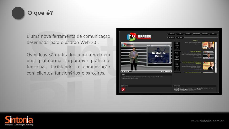 O que é É uma nova ferramenta de comunicação desenhada para o padrão Web 2.0.