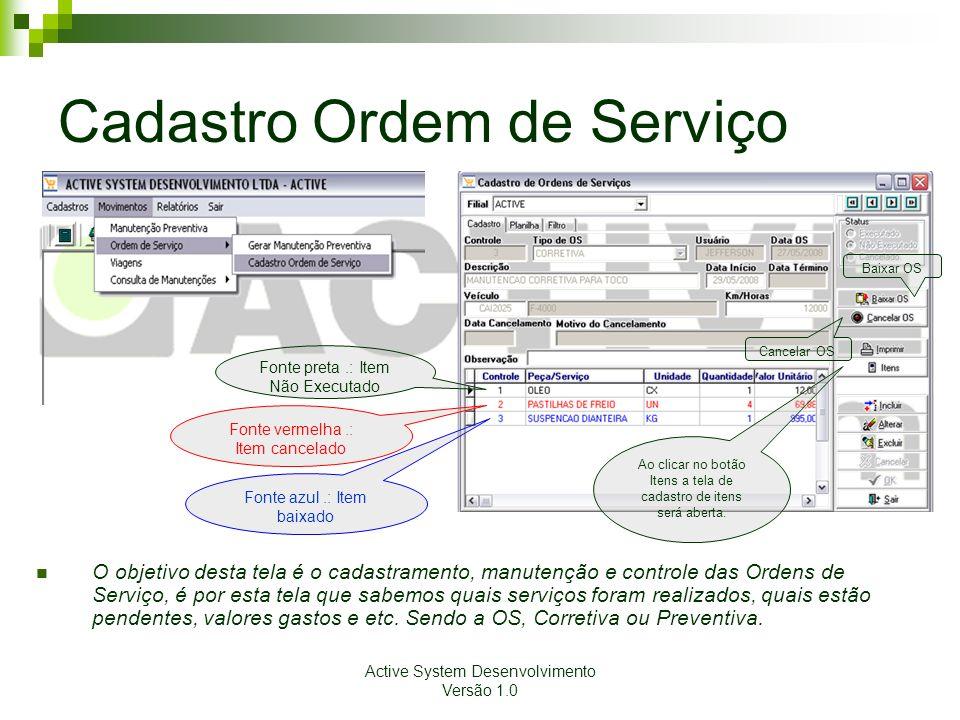 Cadastro Ordem de Serviço