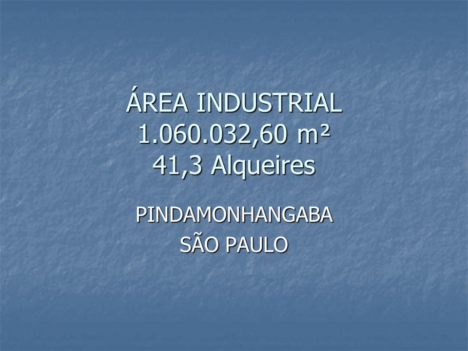 ÁREA INDUSTRIAL 1.060.032,60 m² 41,3 Alqueires