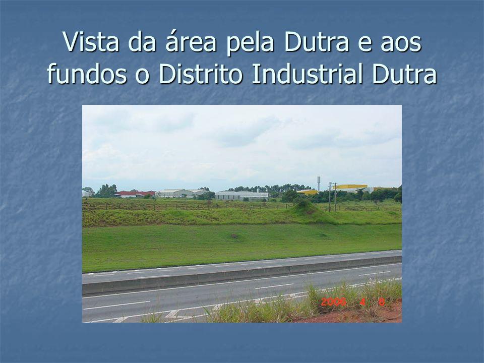 Vista da área pela Dutra e aos fundos o Distrito Industrial Dutra