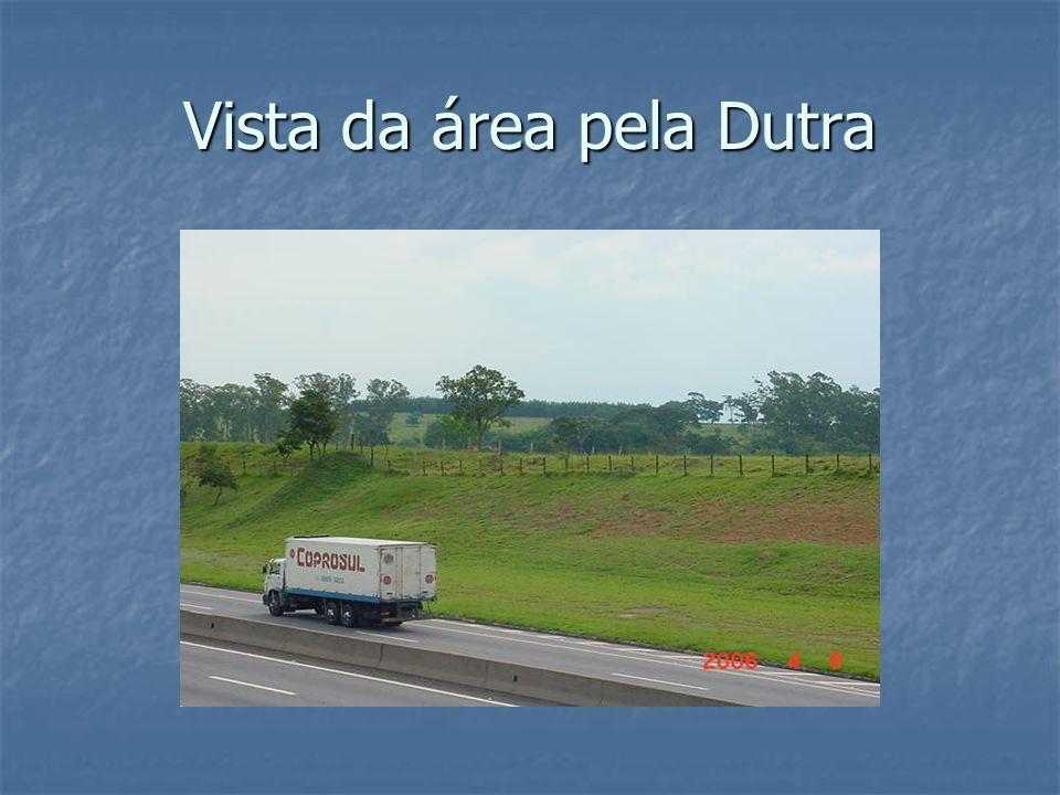 Vista da área pela Dutra