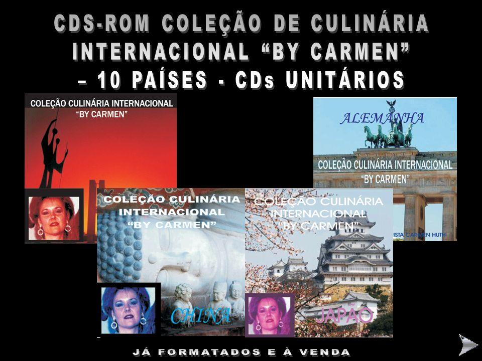 CDS-ROM COLEÇÃO DE CULINÁRIA INTERNACIONAL BY CARMEN