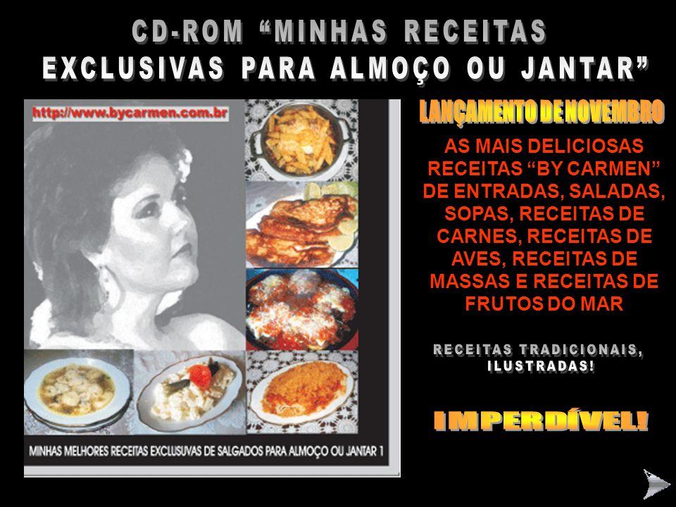 CD-ROM MINHAS RECEITAS EXCLUSIVAS PARA ALMOÇO OU JANTAR Nº1