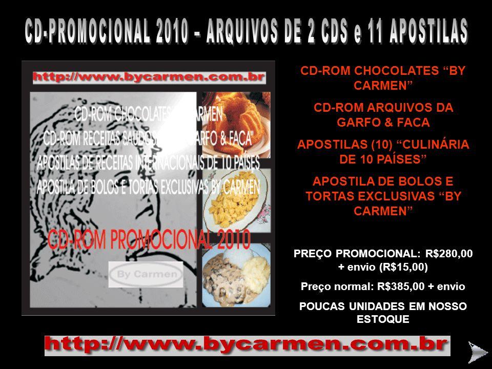 CD-PROMOCIONAL 2010 – ARQUIVOS DE 2 CDS e 11 APOSTILAS