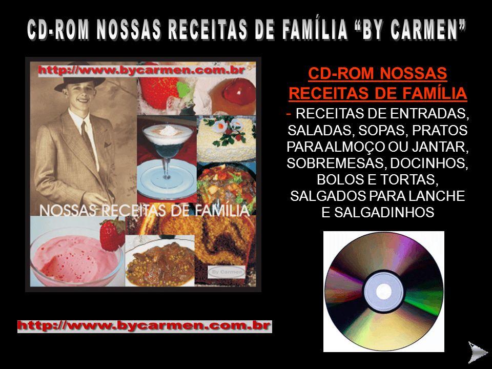 CD-ROM NOSSAS RECEITAS DE FAMÍLIA BY CARMEN