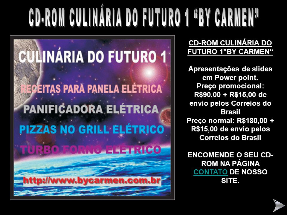 CD-ROM CULINÁRIA DO FUTURO 1 BY CARMEN