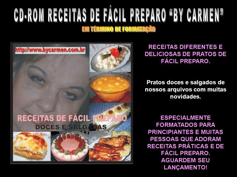 CD-ROM RECEITAS DE FÁCIL PREPARO BY CARMEN