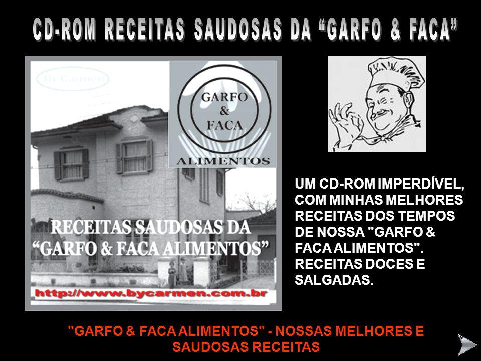CD-ROM RECEITAS SAUDOSAS DA GARFO & FACA