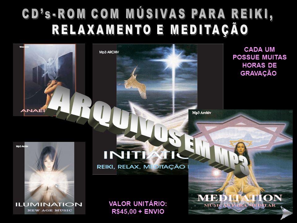 CD's-ROM COM MÚSIVAS PARA REIKI, RELAXAMENTO E MEDITAÇÃO