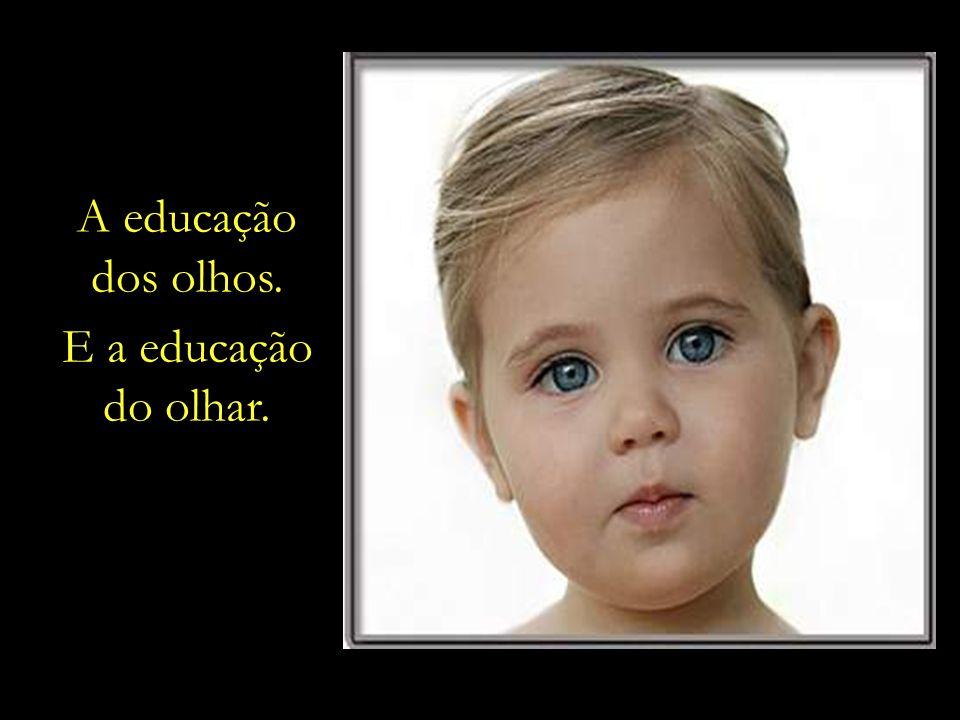 A educação dos olhos. E a educação do olhar.