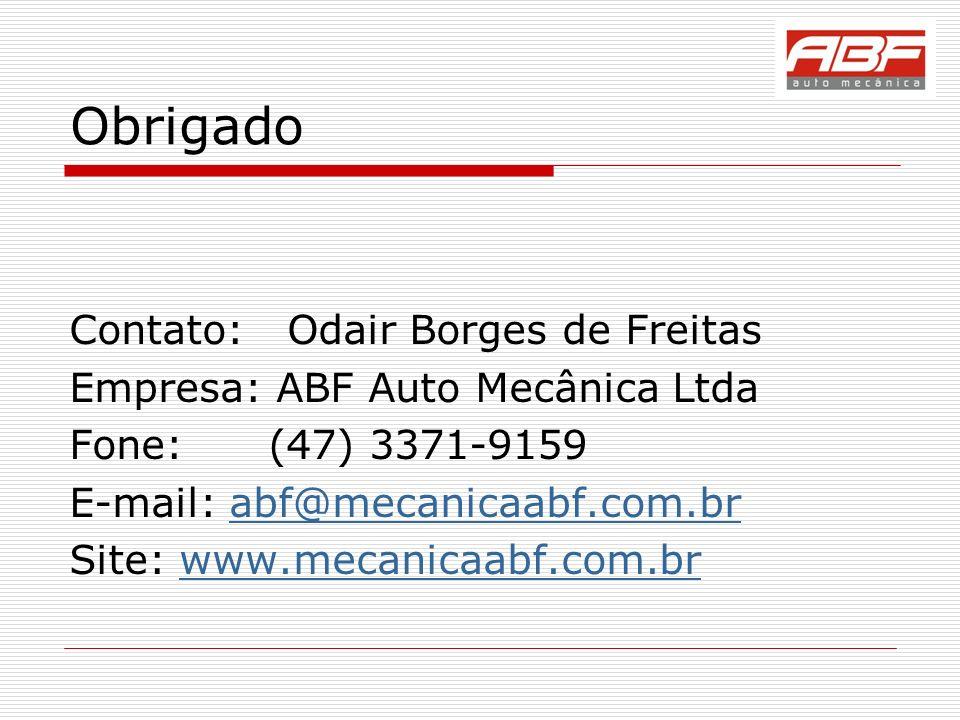 Obrigado Contato: Odair Borges de Freitas