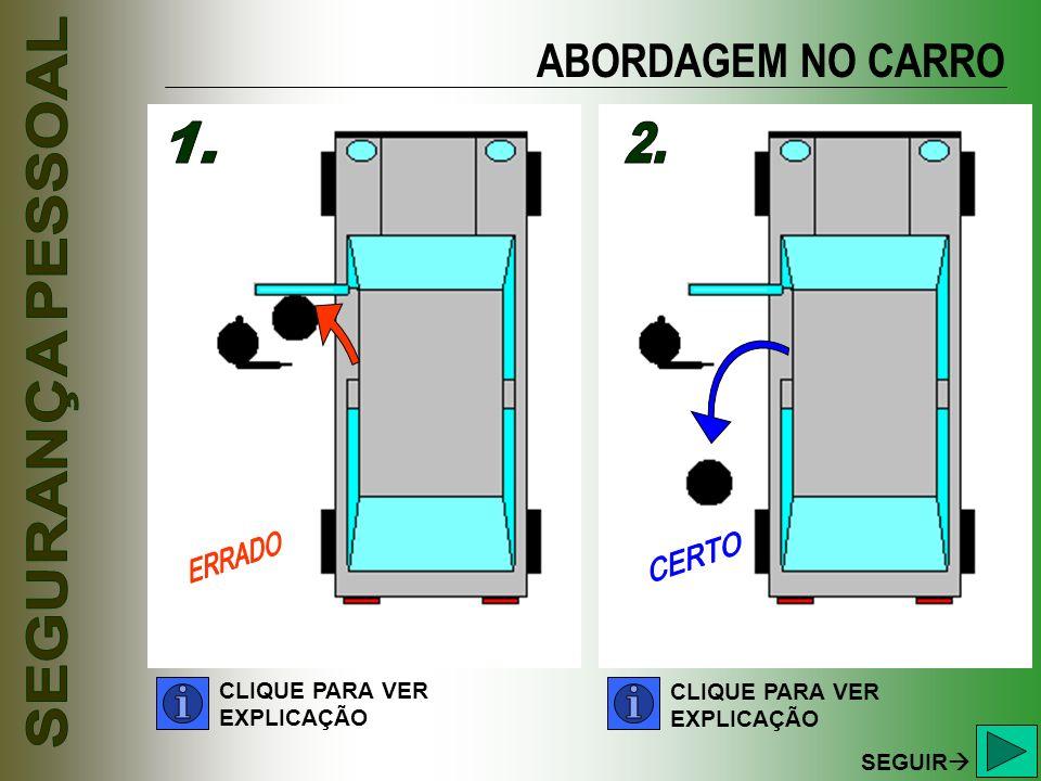 ABORDAGEM NO CARRO 1. 2. CLIQUE PARA VER CLIQUE PARA VER EXPLICAÇÃO