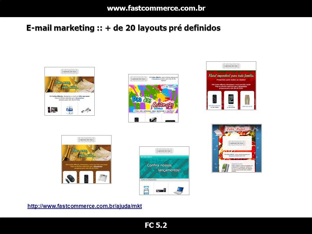 E-mail marketing :: + de 20 layouts pré definidos