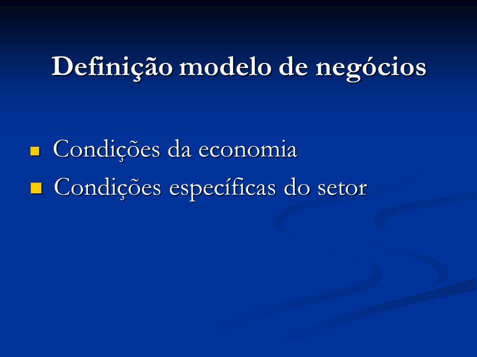 Definição modelo de negócios