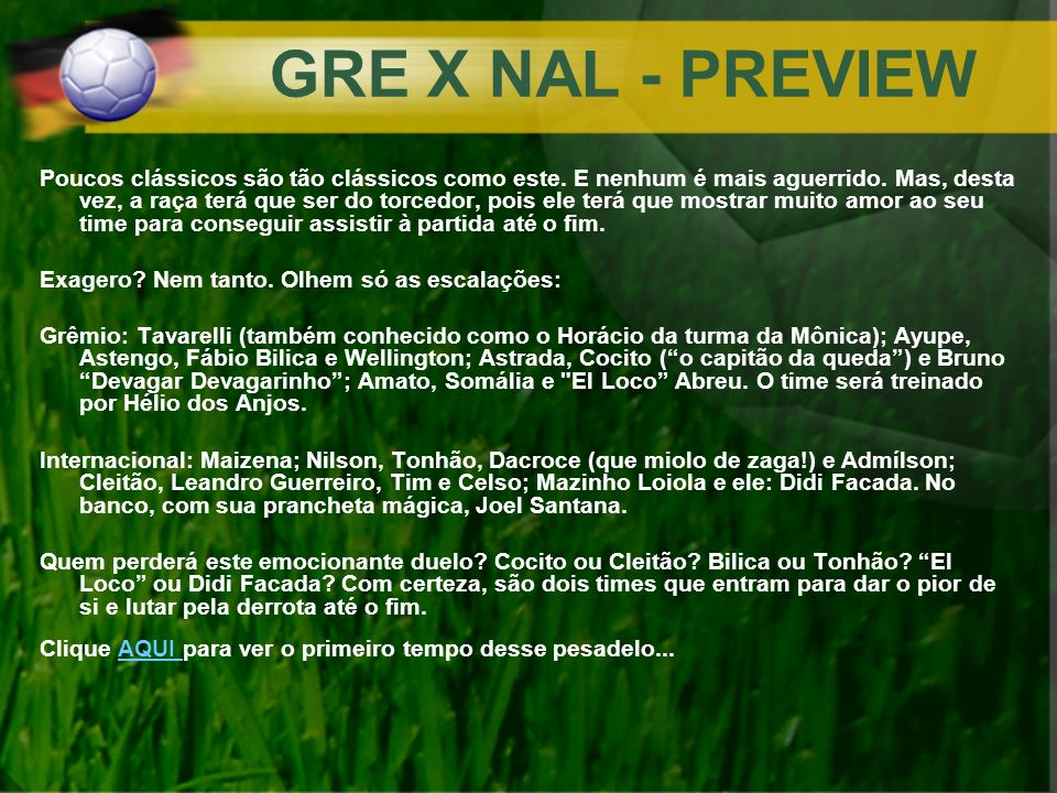GRE X NAL - PREVIEW