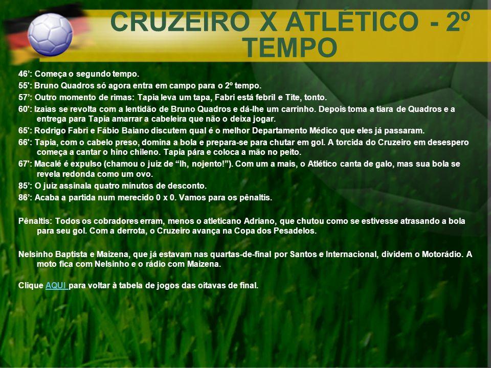 CRUZEIRO X ATLÉTICO - 2º TEMPO
