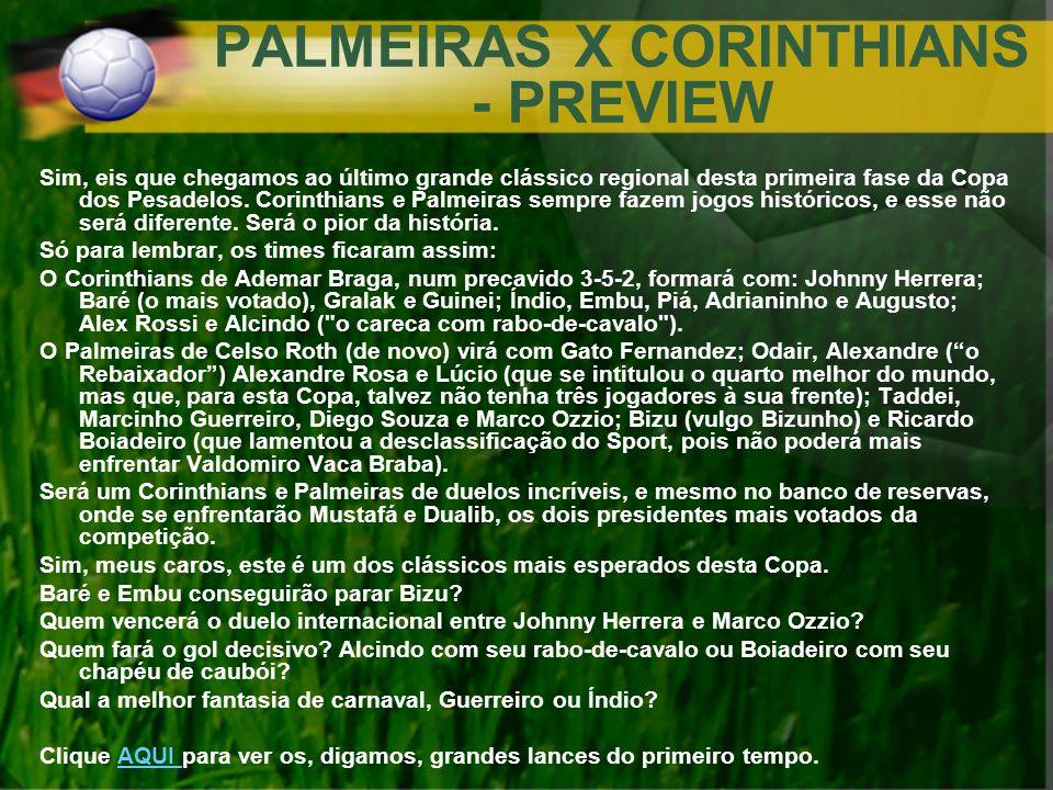 PALMEIRAS X CORINTHIANS - PREVIEW