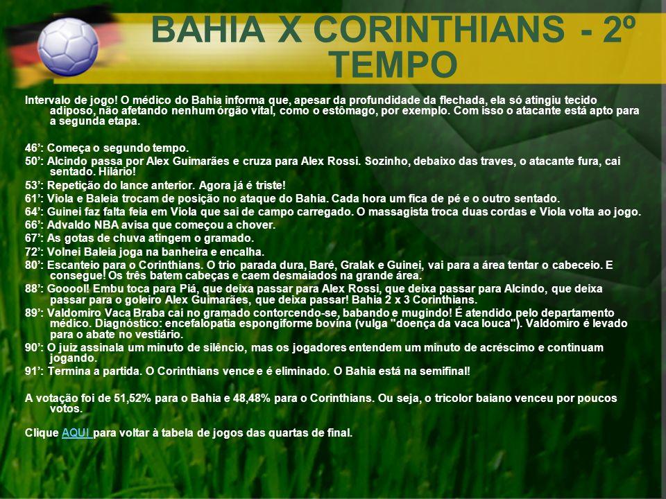 BAHIA X CORINTHIANS - 2º TEMPO