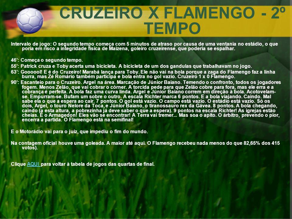 CRUZEIRO X FLAMENGO - 2º TEMPO