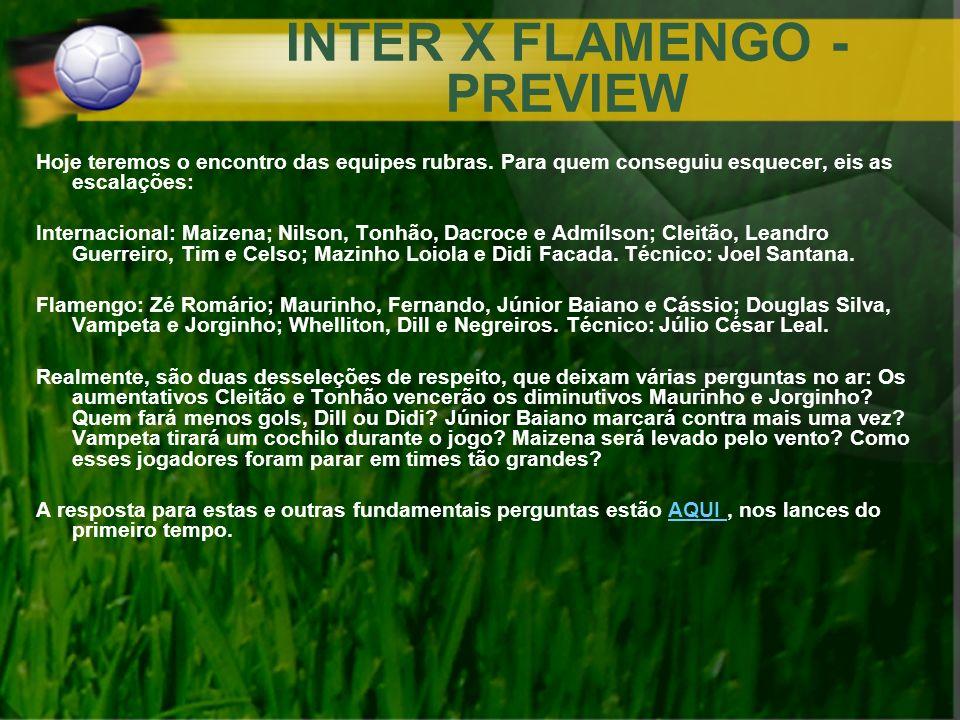 INTER X FLAMENGO - PREVIEW