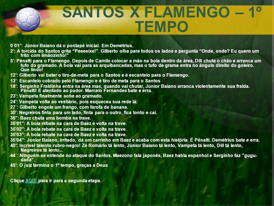 SANTOS X FLAMENGO – 1º TEMPO