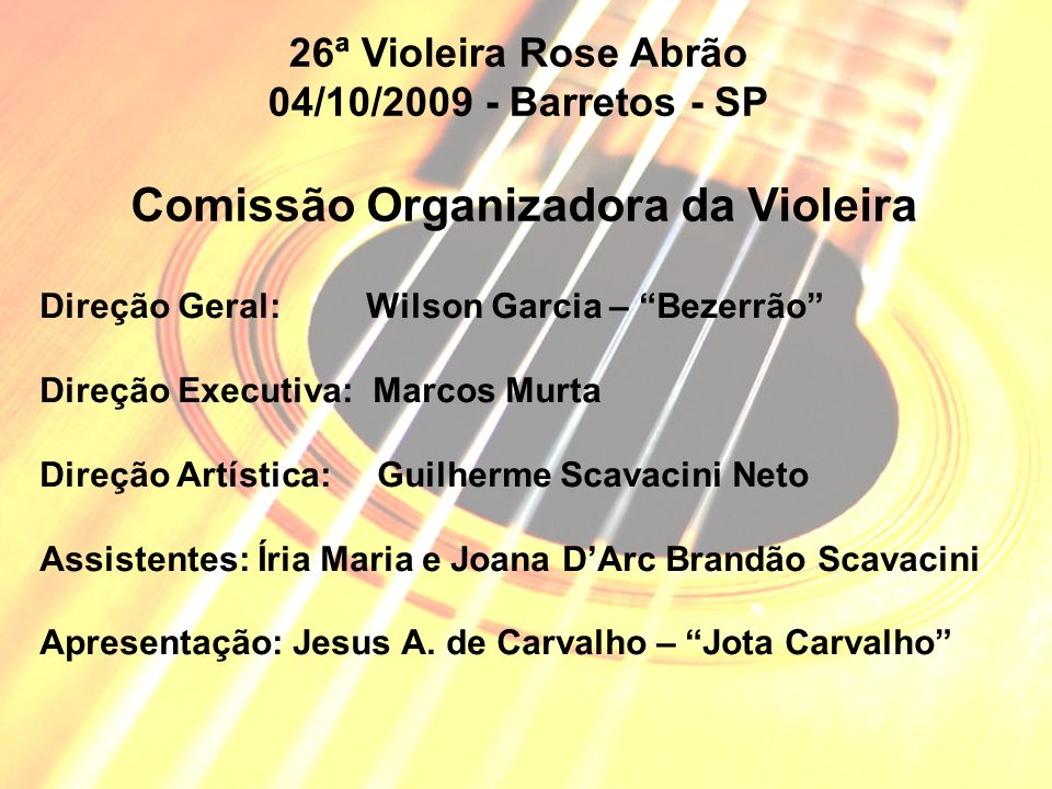 Comissão Organizadora da Violeira