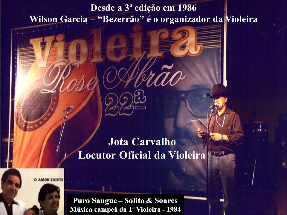 Jota Carvalho Locutor Oficial da Violeira