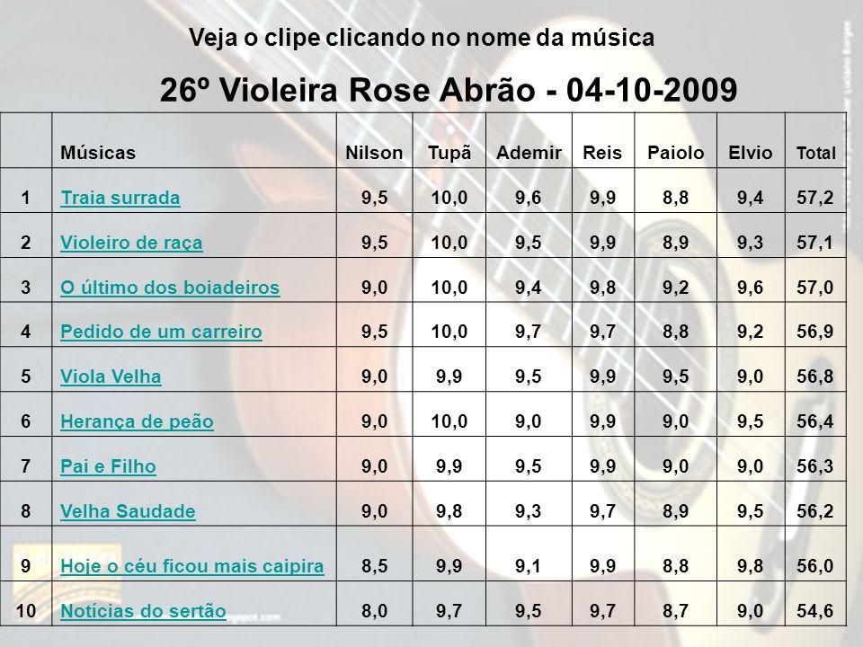26º Violeira Rose Abrão - 04-10-2009