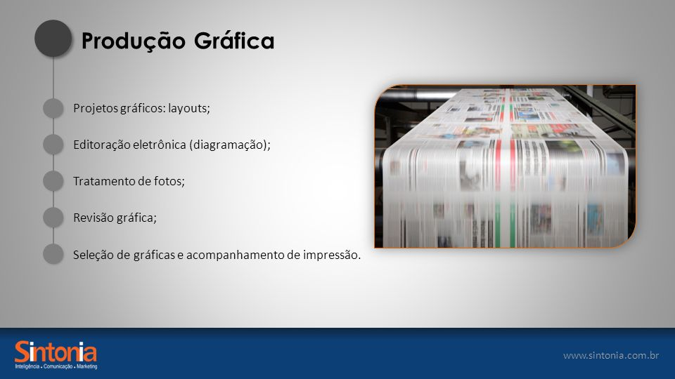 Produção Gráfica Projetos gráficos: layouts;