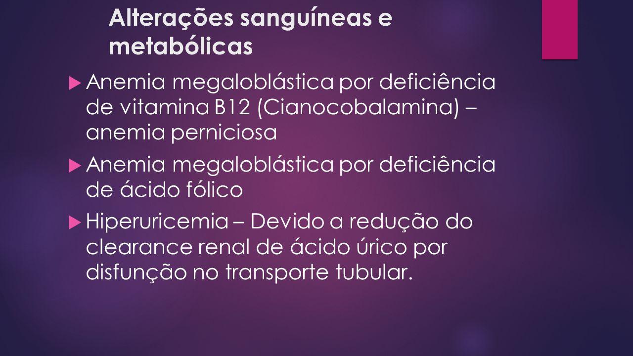 Alterações sanguíneas e metabólicas