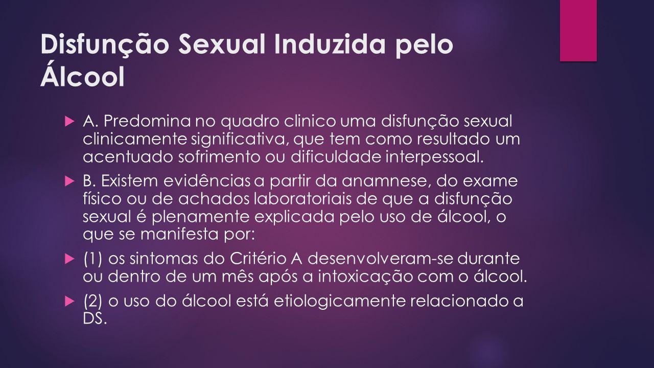 Disfunção Sexual Induzida pelo Álcool