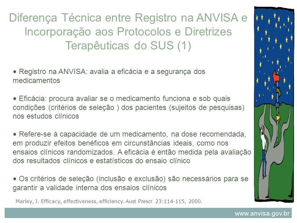 Diferença Técnica entre Registro na ANVISA e Incorporação aos Protocolos e Diretrizes Terapêuticas do SUS (1)